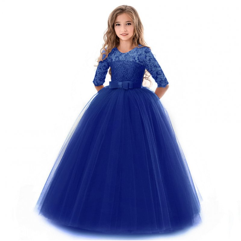 Kids Girls Lace Formal Princess Dress