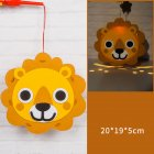 Kids  Handmade  Cartoon Luminous Lantern Diy Portable Puzzle Toy Little lion_The New