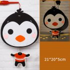 Kids  Handmade  Cartoon Luminous Lantern Diy Portable Puzzle Toy Little Penguin The New
