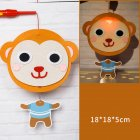 Kids  Handmade  Cartoon Luminous Lantern Diy Portable Puzzle Toy little monkey_The New