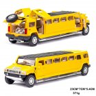 Kids High Simulation 1:32 Alloy Car Model Inertia Doors Open Light Sound Toy yellow