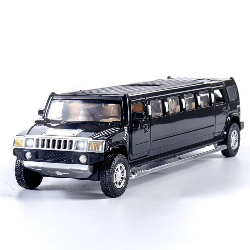 Kids High Simulation 1:32 Alloy Car Model Inertia Doors Open Light Sound Toy black