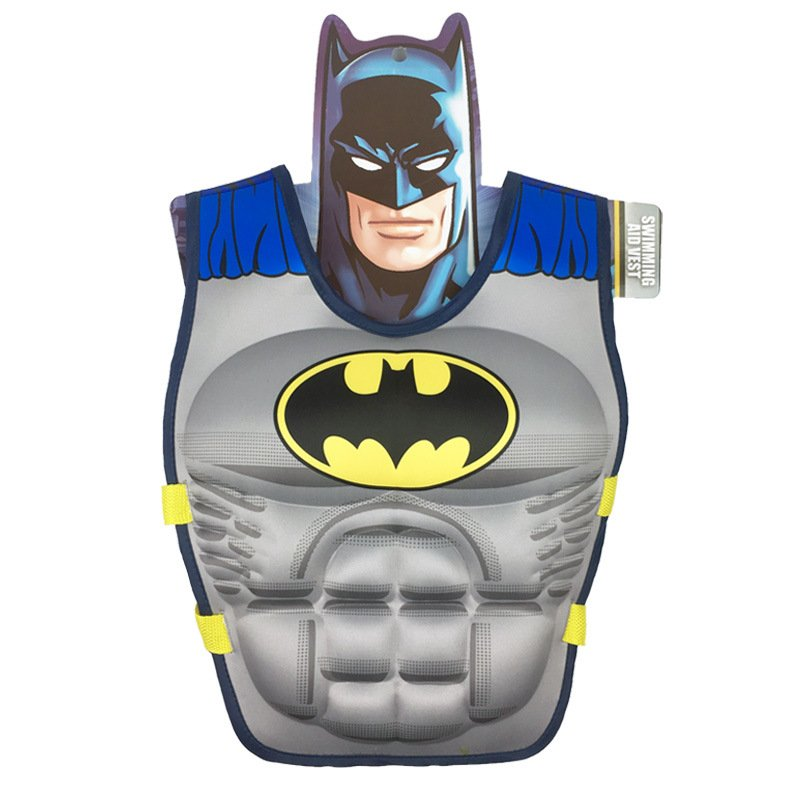 Kids Life Jacket Floating Vest Children Boy Swimsuit Sunscreen Floating Power swimming pool accessories ring Drifting Boating Batman-M