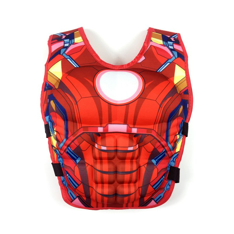 Kids Life Jacket Floating Vest Children Boy Swimsuit Sunscreen Floating Power swimming pool accessories ring Drifting Boating Iron Man-M