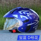 Kids Motorcycle Helmet Children Half Helmet For Children Cycling Head Protector  Royal Blue D Free size