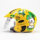 Kids Motorcycle Helmet Children Half Helmet For Children Cycling Head Protector  Yellow calf_Free size