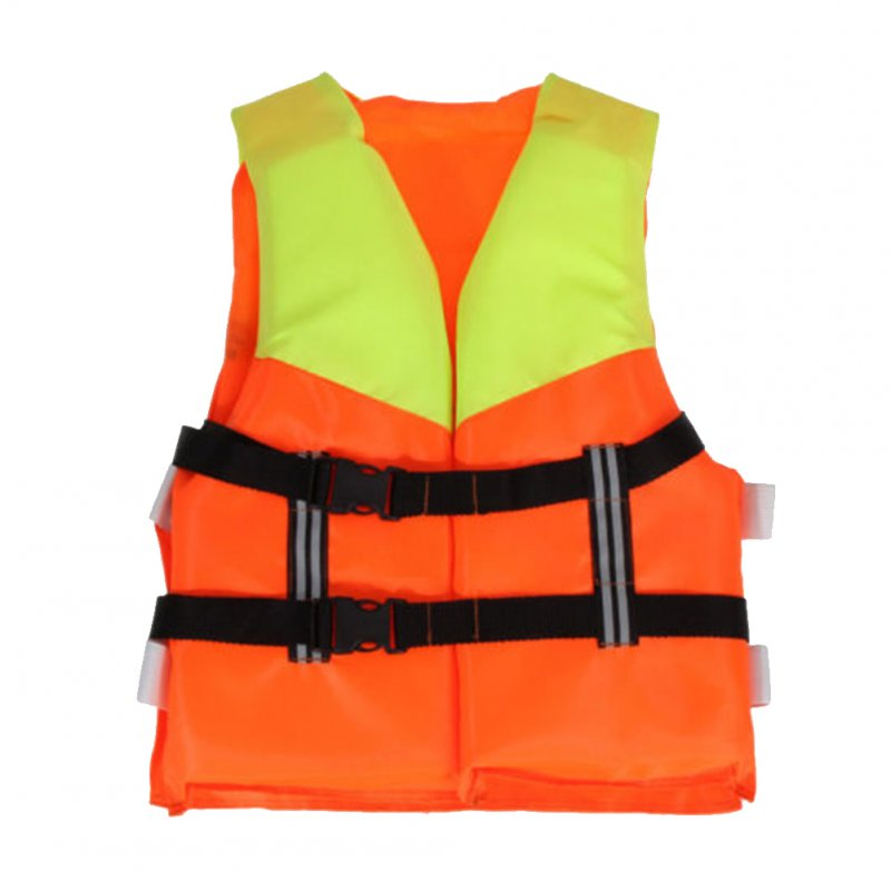 Kids Orange Foam Lifejacket Vest for Flood Water Swimming Rowing Skiing Orange