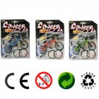 Kids Simulation Mini Alloy Finger Bicycle Spare Tire Bicycle Bikes Gift Three-color random