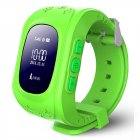Kids Smart Watch Girls Boys Digital Watch with Anti-Lost SOS Button GPS Tracker Smartwatch  green