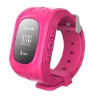 Kids Smart Watch Girls Boys Digital Watch with Anti-Lost SOS Button GPS Tracker Smartwatch  Pink