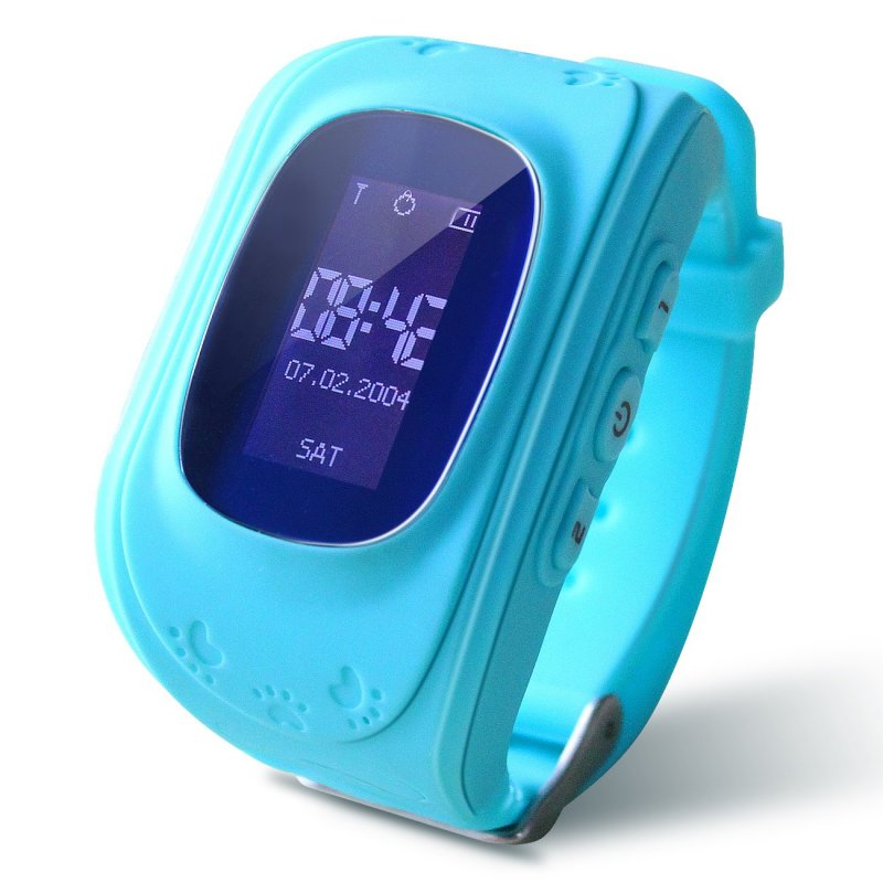 Kids Smart Watch Girls Boys Digital Watch with Anti-Lost SOS Button GPS Tracker Smartwatch  blue
