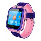 Kids Smart Watch Q12B Phone Watch for Android IOS Life Waterproof LBS Positioning 2G Sim Card Dail Call Pink