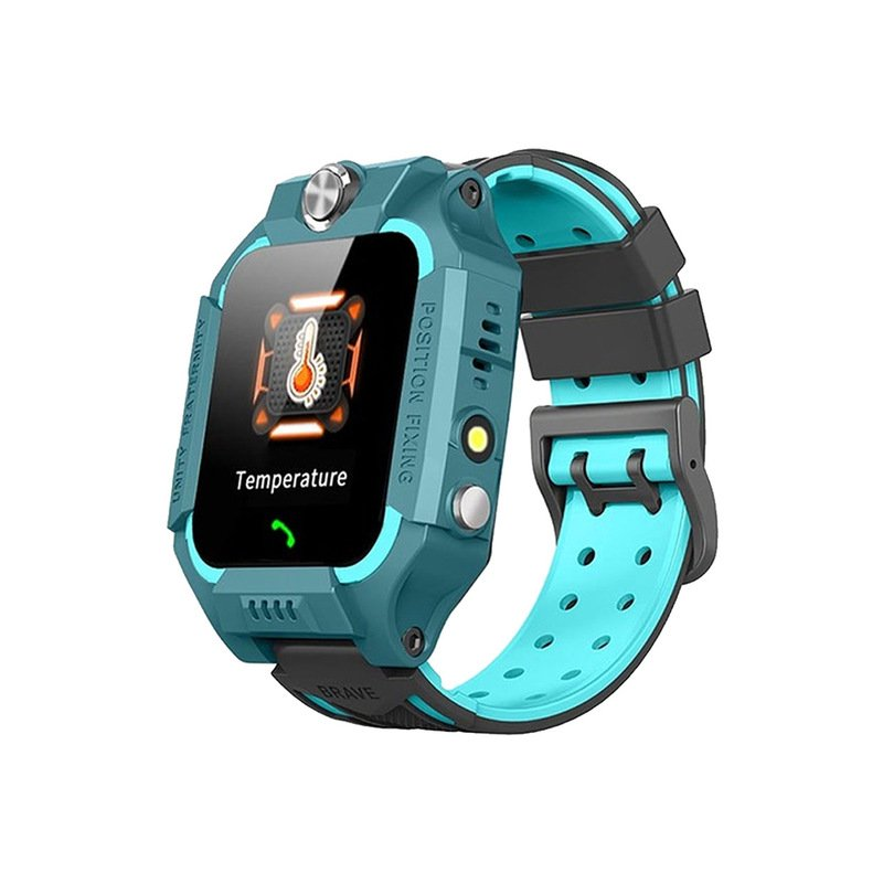Kids Temperature Detection Smart Bracelet 1.44 Inches Color Touch Screen 400mah Remote Monitoring Intercom Watch blue