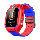 Kids Temperature Detection <span style='color:#F7840C'>Smart</span> Bracelet 1.44 Inches Color Touch Screen 400mah Remote Monitoring Intercom <span style='color:#F7840C'>Watch</span> red