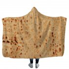 Kids Unique Tortilla Texture Soft Plush Hooded Throw Blanket Home Decor