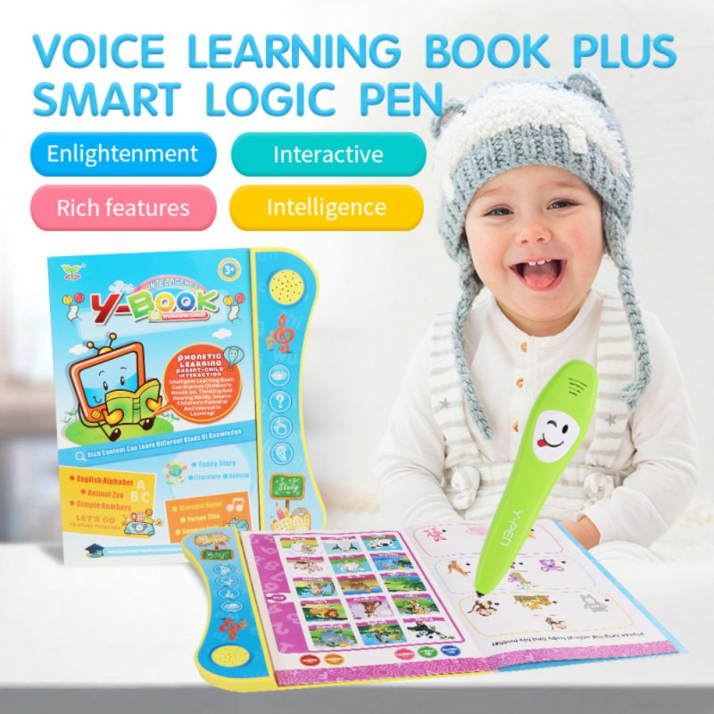 Kids Voiced Ebook with Reading Pen Early Learning Toy English Version