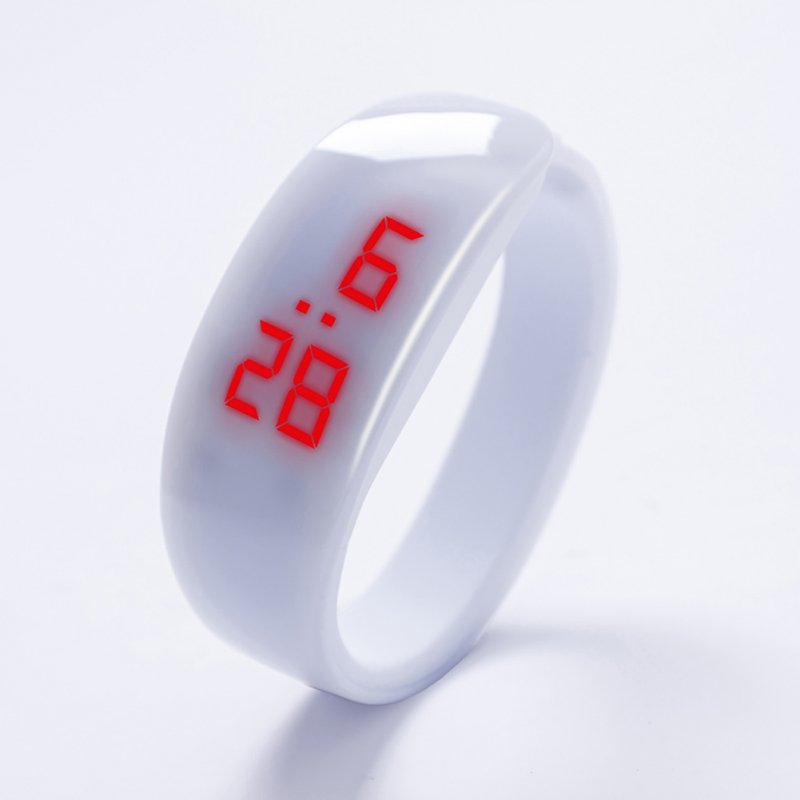 Kids Watch Bracelet LED Digital Sport Wrist Watch For Child Boys Girls New Electronic Clock  white