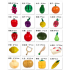 Kids Wooden Vegetables Fruit Cutting Play House Toy Early Education Supplies Gift 16pcs set fruit backet