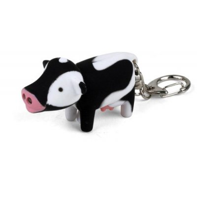 Kikkerland `Mooing` LED Cow Key Chain