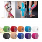 Kinesiology Therapeutic Tap Self Adherent Cohesive Cotton Bandage Sport Injury Muscle Protect Bandage Multicolor_Length and width 2.5*5CM
