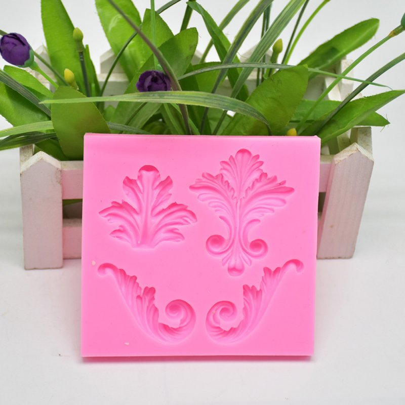 Kitchen Baking Mild European Relief Pattern Cake Decoration Silicone Mold Fondant Cake Mold 10.4 * 9.6 * 0.9cm