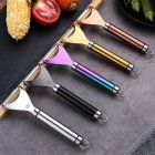 Kitchen Peeler Stainless Steel Multifunctional Peeling Kitchen Tool Set curved type secretion black system