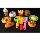 Pretend Cutting Playset Food Toy