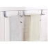 Kitchen Stainless Steel Door hanging Towel Rack Single Rod Nail free Duster Cloth Hanger  Large