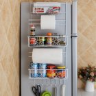 Kitchen Storage Hanger Refrigerator Side Shelf Rack Multilayer Cupboard Wardrobe Storage Holders  Kitchen Storage Hanger