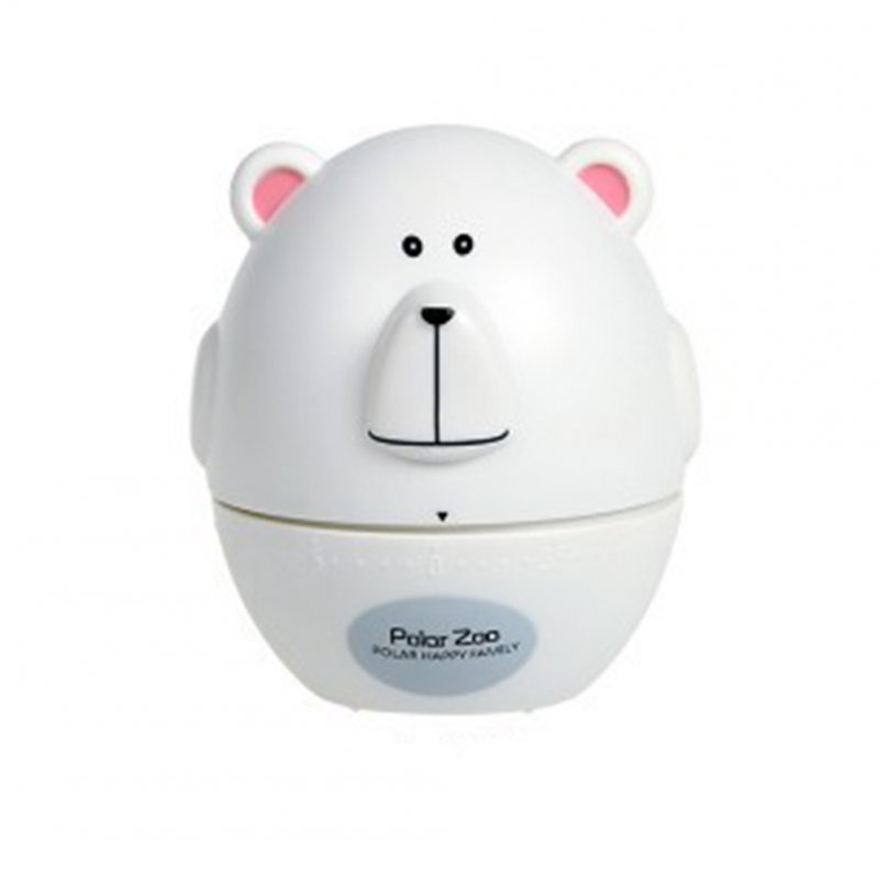 Kitchen Timer Cute Animal Model Kitchen Timer Mechanical Alarm Clock Without Battery Reminders Timer White bear