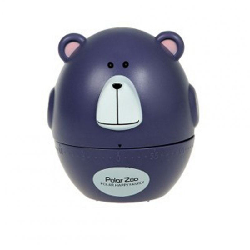 Kitchen Timer Cute Animal Model Kitchen Timer Mechanical Alarm Clock Without Battery Reminders Timer Purple bear