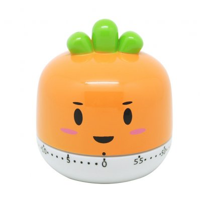 Kitchen Vegetable Fruit Shape Timer Cute Cooking Mechanical Home Decor Orange