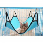 Kitten Cat Hammock Comfortable Soft Hanging Fleece Pet Cage Hammock Bed  Light blue