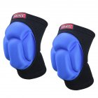 Knee Protector Sponge Thicked Football Volleyball Extreme Sports Ski Kneepad A-2 black + blue pair