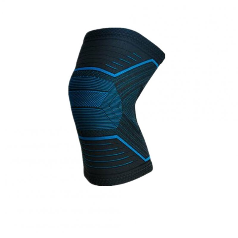 Knee Protector Sports Basketball Equipment Running Training Knee Leg Protector Black blue XL