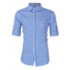 Kuulee Men s Fashion Shirts for Beer Festival Plaid Button Down Long Sleeve Slim Fit Shirts