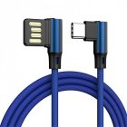 L Shaped Angle Head Type-C Charging Cable Data Transmission Cable Adapter 3 Meter for Phone blue