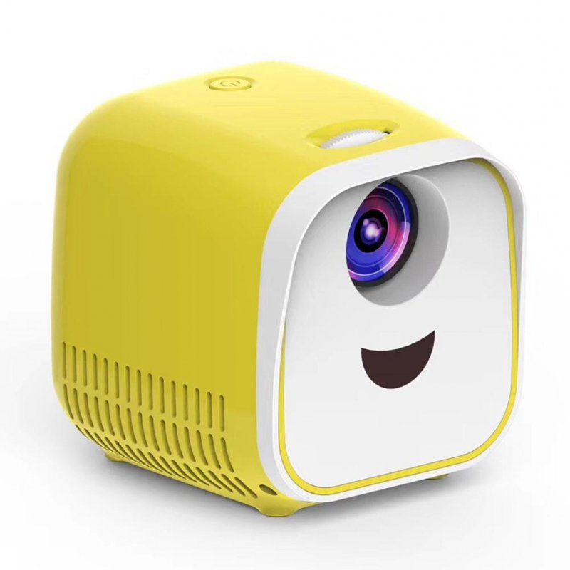L1 Portable Mini Projector Support HD Home Theater Projectors HDMI USB Media Player Children Gift yellow_European regulations