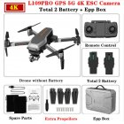 L109PRO GPS Drone 4K Quadcopter Mechanical Two-axis Anti-shake 5G WiFi FPV HD ESC Camera Brushless Helicopter 25mins Flight Time Dual battery_EPP foam box