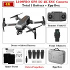 L109PRO GPS Drone 4K Quadcopter Mechanical Two-axis Anti-shake 5G WiFi FPV HD ESC Camera Brushless Helicopter 25mins Flight Time Single battery_EPP foam box