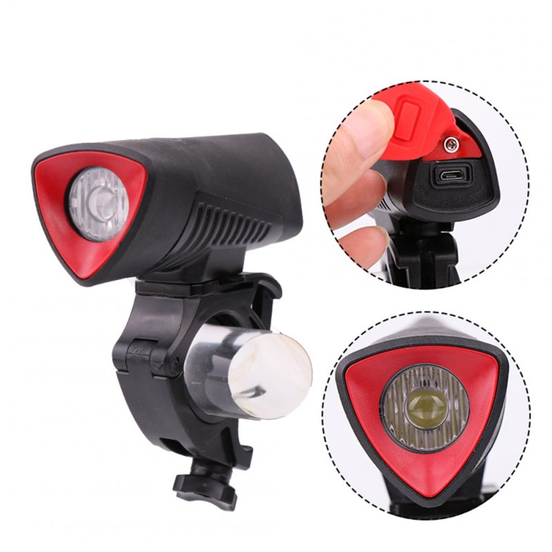 L2 LED USB Rechargeable Bike Front Light Cycling Bicycle Headlight Handlebar Bycicle Lamp with Built-in Battery white light