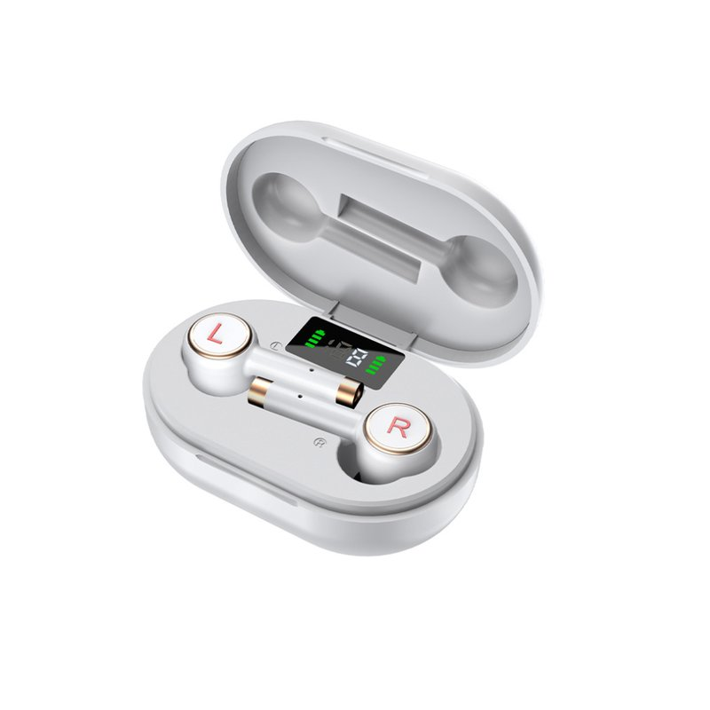 L2 Pro Bluetooth Headset Wireless Bluetooth 5.0 Sports Noise Reduction Earbuds with Charging Box white