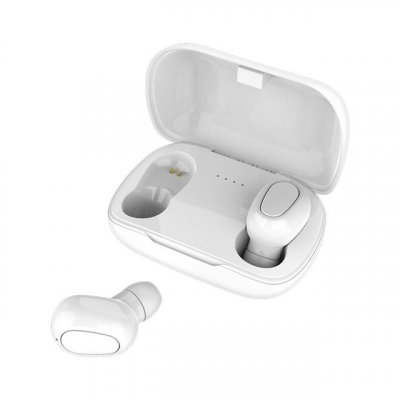 L21 TWS Wireless Earphones Bluetooth 5.0 Headphones Mini Stereo Earbuds Sport Headset Bass Sound Built-in Micphone white