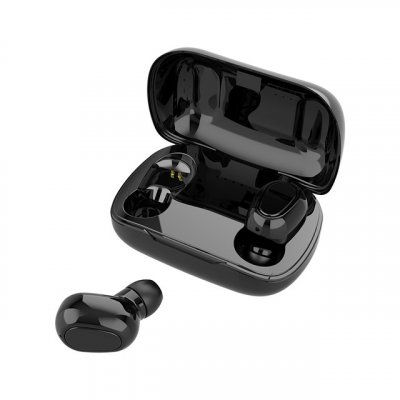 L21 TWS Wireless Earphones Bluetooth 5.0 Headphones Mini Stereo Earbuds Sport Headset Bass Sound Built-in Micphone black