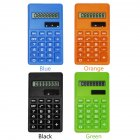 LCD 8 Digit Ultra Slim Calculator Soft Silicone Stationery Scientific Portable Students Calculator blue