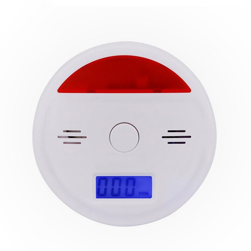 LCD Display CO Sensor Concentration Carbon Monoxide Detector Gas Sensor for Home Security white