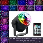 LED 15 Colors Sound Activated Mini Magic Ball Light with Remote Controller European regulations
