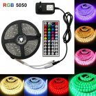 LED 5050 RGB Colorful Soft Strip Lights with 44-key Remote Control Set 12V High Bright Low Voltage Light U.S. regulations