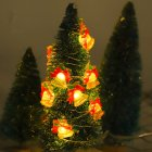 LED 8 Modes String Lights Remote Control Waterproof Christmas Tree Bell Lamp for Xmas Party Curtain Decor Warm White