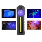 LED+COB Purple Light Torch USB Charging Strong Working Folding Lamp with Magnet Purple light